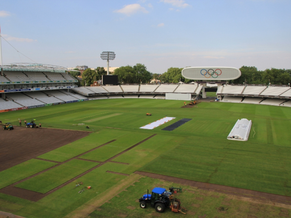 Lord's outfield post Olympics turf replacement