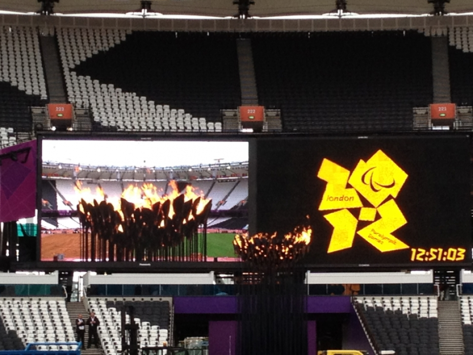 The London 2012 Olympic Flame