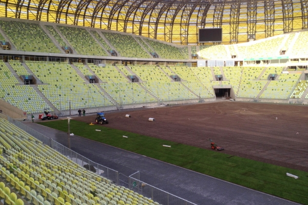 Lincolnshire firm County Turf undertake UEFA's demands for Euro 2012