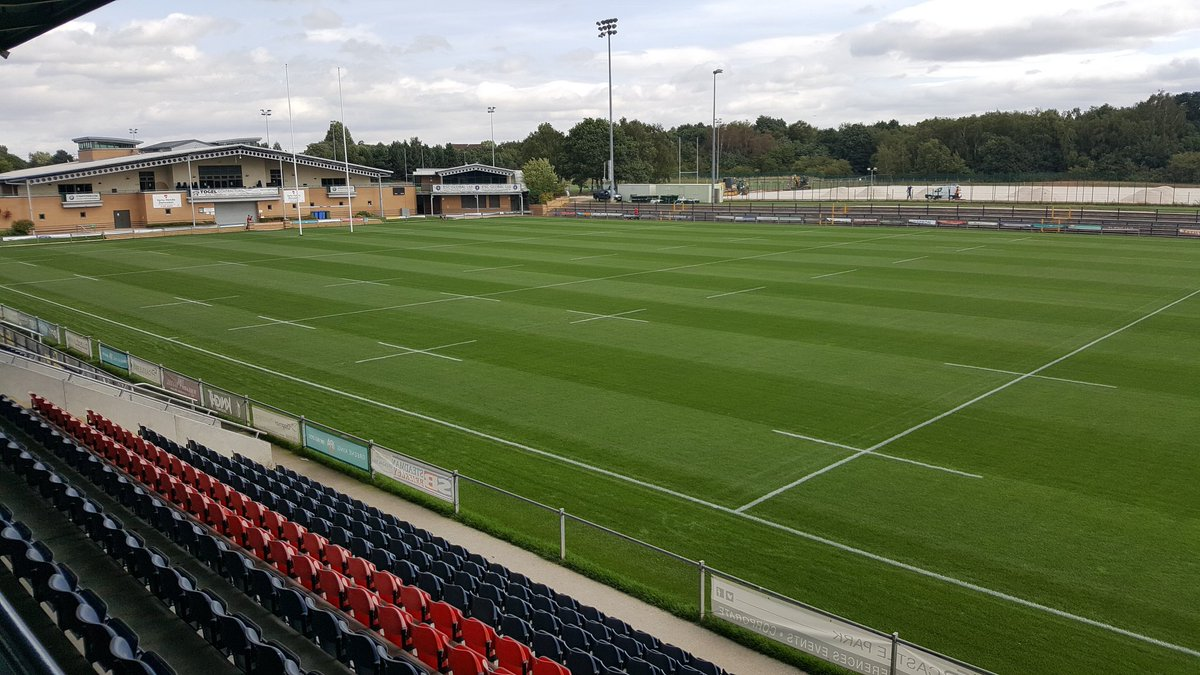 Pitch ready for 2018-19 season at Castle Park, Doncaster Knights RFC following renovation works